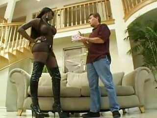 Big and black ass Lucky white guy and black slut