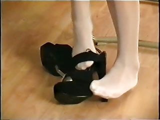 High hills shoes fetish - Nylon feet and shoes - final part 10