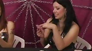 slave girl worship feet under the table