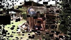 latina teen dominate slave outdoor at farm