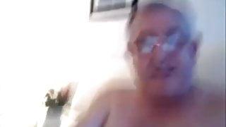 Dad's happiness in masturbating