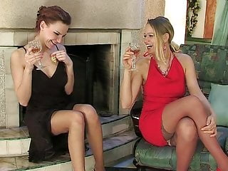 Food fun and drinks for adults - Drinks turn into anal fun for ladies