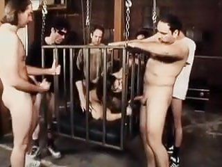 Fucked in a cage Whore in a cage