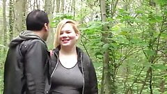 Outdoors fuck with ugly MILF
