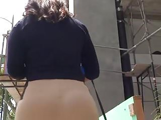 Voyeur tan vid Thick latina slut tan spandex vtl