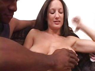 Girl chokes on black cock Busty stephanie wylde chokes on black cock facial