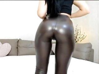 Tight shiny panties pussy crotch Webcam girl in tight shiny leggings