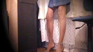 Webcam cum in stockings