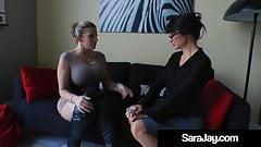 Boss Milf Sara Jay Fucks Sexcretary Angie Noir!
