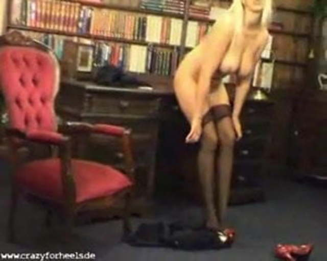 Big Tits Blonde In Sexy Hose And Heels Porn 3f Xhamster