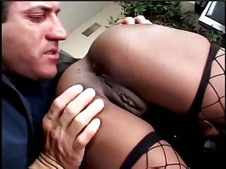 Sexy rag doll costume - Amateur black girl in fishnets gets thrown around like a rag doll