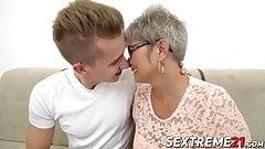 Naughty granny Jessye pounded hard