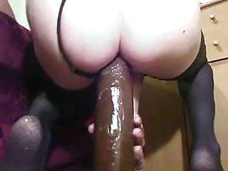 Open ass sex Analsissy slutgaping ass open with big black monster dildos