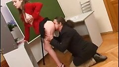 Old man have sex with young secretary