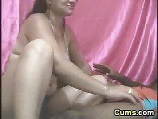 Friend cums in wifes mouth Horny latina wife sucking his husband