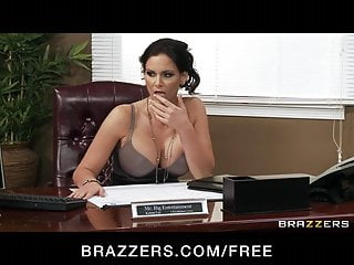 Hot big tit sluts fucking Four hot big-boob office sluts fuck boss big-dick in office