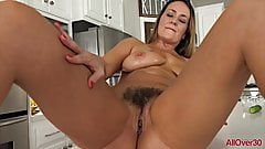 Elexis Monroe MILF Housewife Hairy Pussy in the Kitchen