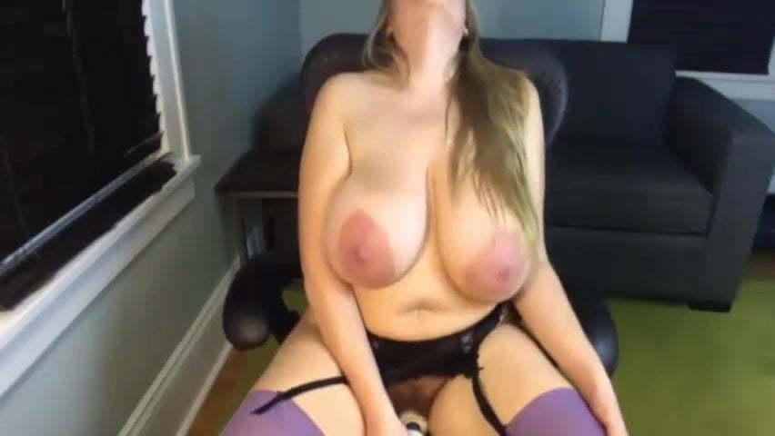 Huge Saggy Tits Masturbating