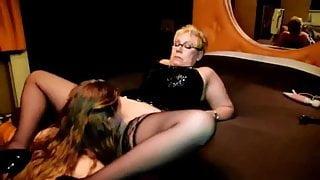 Dutch granny pussylicking