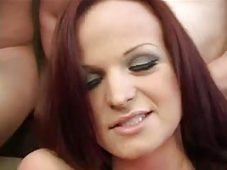Many cum facials Dirty talking girl gets group fucked then gets many facials