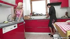 Cheating sex at kitchen with not mother inlaw