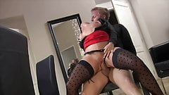 Horny Brunette With Stockings Wants To Be Fucked Hard