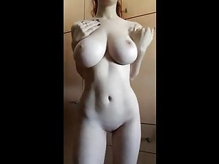 Perfect Big White Tits And Body