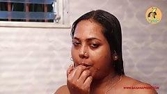 Mallu Sathi Aunty, big boobs, nude bath