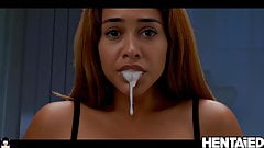 HENTAIED - Cumflation - Hot Sexy Mulatto Explodes with Cum