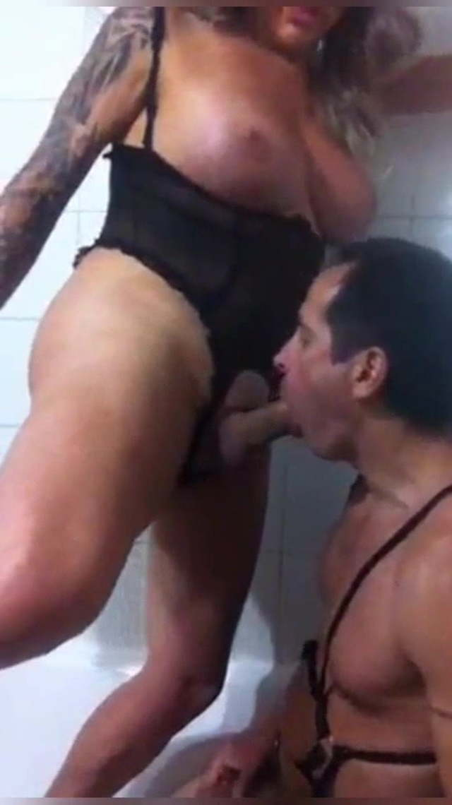 Guy Fucks Shemale Bareback