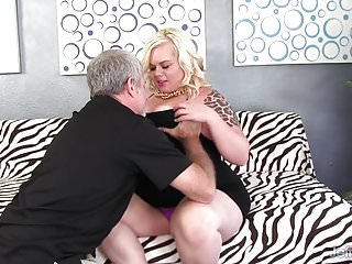 Chubby blonde getting fucked Chubby blonde gets her asshole munched before fuck and facia