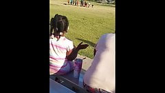 Thick ebony booty compilation at the park