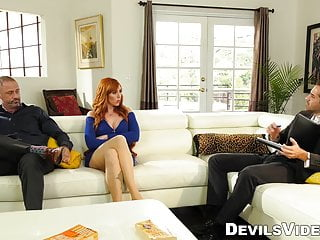 Sexual counselors Redhead milf cuckolds hubby with marriage counselor