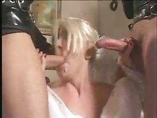 Gangbang bride New bride sucks and fucks hard