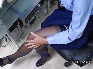 Nylon stockings panties xxx Student masturbation in nylons panties