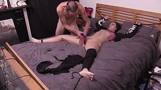 Bound To The Bed, Clothes Cut Off And Used By Stepdad