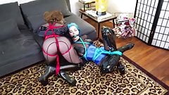 2 Girls Tied Up and Struggling