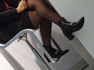 Mature legs tgp - Candid mature legs in black pantyhose