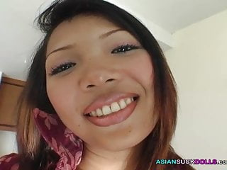 Real firs time cum - Hot asian babe firs time swallows nut