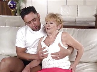 Grandmas fucking young guys - A horny grandma is fucked by a hot young guy