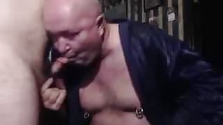 daddy suck step son cock