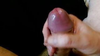 Thick uncut cock wank