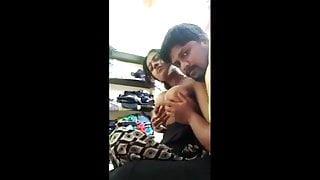 Hot bhabhi's big milky boobs