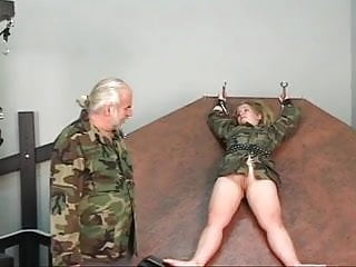 What is a spinning sex Young blonde slave gets strapped in a spinning wheel