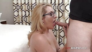 MILF Casting Fuck As Abbey James Is Filled With Cum
