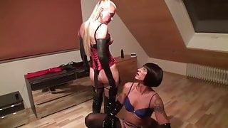 Balls Torture auf Deutchsland with a german dominatrix