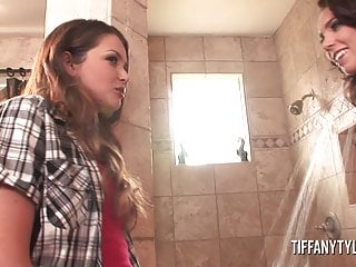 Naughty allie titty fuck Tiffany tyler and allie haze naughty shower fun