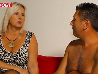 Teenie covered in cum pics Letsdoeit - mature german bbw gets tits covered in cum