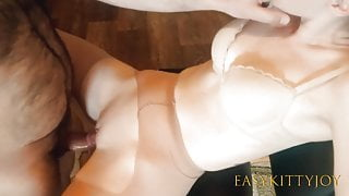 Easykittyjoy. Pov pantyhose sex with a sexy wife