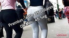 Candid Spandex Jeans Shorts Voyeur Premium 001-005